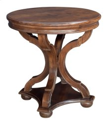 Bengal Manor Mango Wood Curved Leg Round Accent Table