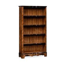 Tall Argentinian Walnut Open Bookcase