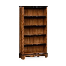 Tall Argentinian Walnut Open Bookcase