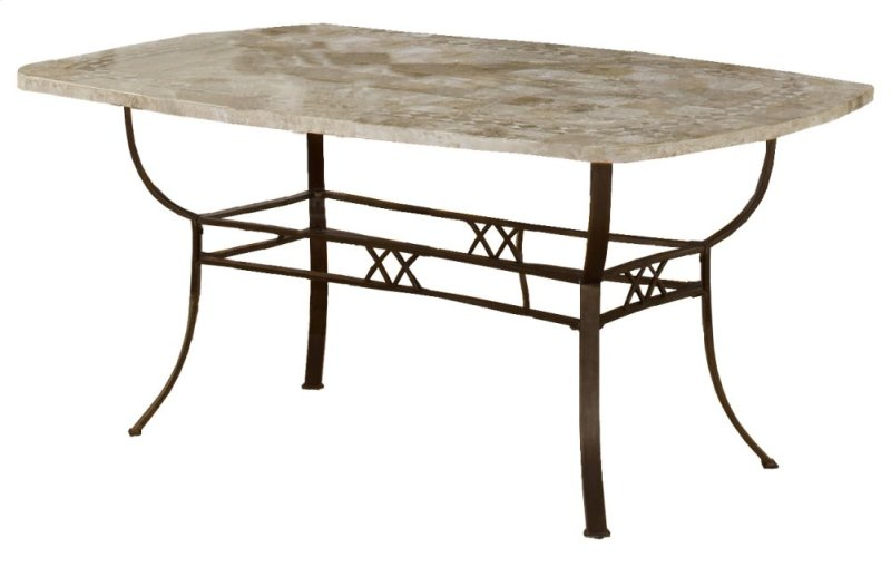 Brookside Rectangle Dining Table Ctn B Fossil Stone Top Only