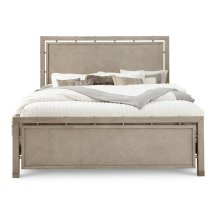 Sutton Place King / California King Footboard and Slats in Oak Grey