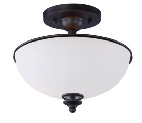 Novus 2-Light Semi-Flush Mount