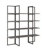 "Emerald Home Atari Bookshelf 60"" Antique Grey Ac390-60 Product Image"