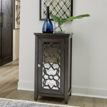 Mirrored Door Accent Cabinet