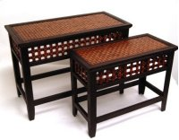 Set/2 Safari Wooden Sideboard-19.75/16.75 Product Image