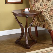 """Brown Cherry"" 3-Legged Accent Table"