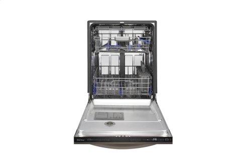 LG Black Stainless Steel Series Top Control Dishwasher with EasyRack Plus