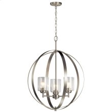 Winslow 3 Light Chandelier Brushed Nickel