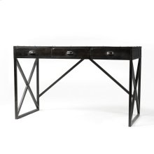 Iron Desk With 3 Drawers-antique Black