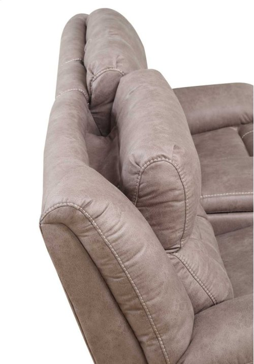 """Aria Pwr-Pwr Recliner Console Loveseat,Desert Sand,77""""x43""""x43"""