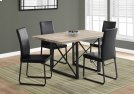 "DINING TABLE - 36""X 60"" / DARK TAUPE / BLACK METAL Product Image"