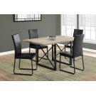"""DINING TABLE - 36""""X 60"""" / DARK TAUPE / BLACK METAL Product Image"""