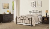 Harrison King Duo Panel Bed Set - Textured Black - Must Order 2 Panels for Complete Bed Set