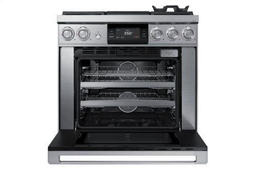 "36"" Pro Dual-Fuel Steam Range, Silver Stainless Steel, Liquid Propane"