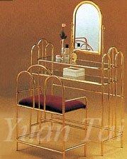 Metal Vanity Set, Brass Finished