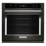 "Kitchenaid27"" Single Wall Oven with Even-Heat(TM) True Convection - Black Stainless"