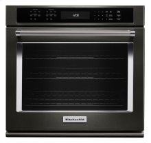 """27"""" Single Wall Oven with Even-Heat True Convection - Black Stainless"""