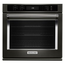 """27"""" Single Wall Oven with Even-Heat True Convection - Black Stainless Steel with PrintShield™ Finish"""