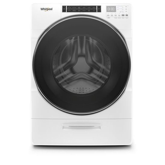 Whirlpool(R) 5.0 cu. ft. Front Load Washer with Load & Go(TM) XL Dispenser - White