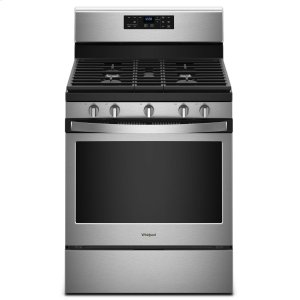5.0 cu. ft. Freestanding Gas Range with Center Oval Burner - FINGERPRINT RESISTANT STAINLESS STEEL