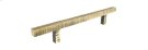 "Antique Brass Forged 3 11"" Square Bar Pull Product Image"