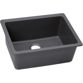 "Elkay Quartz Luxe 24-5/8"" x 18-1/2"" x 9-1/2"", Single Bowl Undermount Sink, Charcoal"