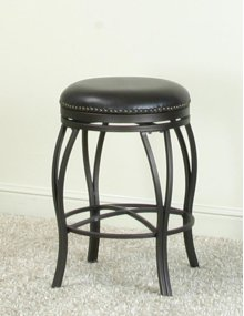 """Sunset Trading 24"""" Victoria Backless Swivel Counter Stool - Sunset Trading"""
