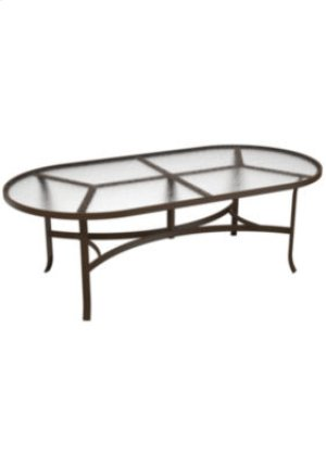 "Acrylic 84"" x 42"" Oval Dining Table"