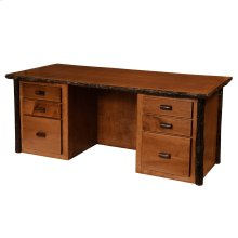 Executive Desk Natural Hickory, Standard Finish