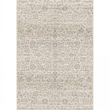 Berkeley Contemporary 5x8 Area Rug in Cream/Grey