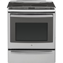 "GE Profile™ Series 30"" Slide-In Front Control Induction and Convection Range with Warming Drawer***FLOOR MODEL CLOSEOUT PRICING***"
