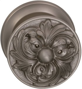 Interior Ornate Knob Latchset in (US15 Satin Nickel Plated, Lacquered)