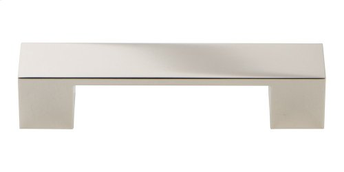 Wide Square Pull 3 3/4 Inch - Polished Nickel