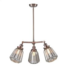 105-AC - 3 LIGHT CHANDELIER