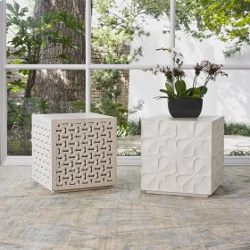 Limestone Daisy Mini Table