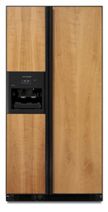 """24.5 cu. ft. 35 5/8"""" Width Counter-Depth Side-by-Side Dispensing Custom Panels (Not Included)"""
