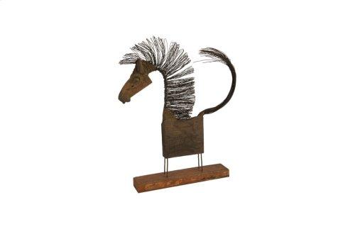 Wire Horse Sculpture, Medium Body