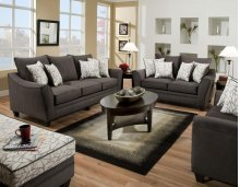 Flannel Seal Loveseat