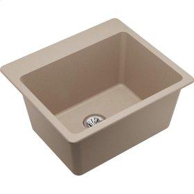 "Elkay Quartz Classic 25"" x 22"" x 11-13/16"", Drop-in Laundry Sink with Perfect Drain, Putty"