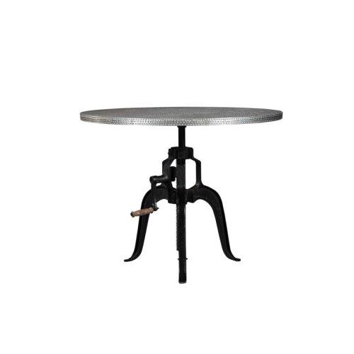 Rhea Industrial Black Dining Table