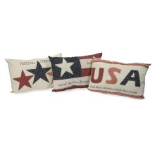 Patriotic Pillows - Set of 3