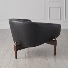 Mimi Chair-Black Marbled Leather