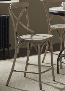 X Back Counter Chair - Vintage White