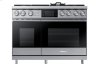 "48"" Pro Dual-Fuel Steam Range, Graphite Stainless Steel, Natural Gas"