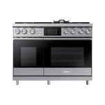 "Dacor48"" Pro Dual-Fuel Steam Range, Graphite Stainless Steel, Liquid Propane"