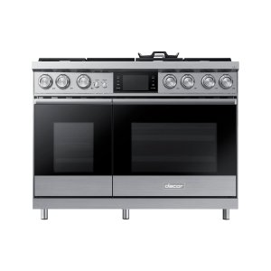 "Dacor48"" Pro Dual-Fuel Steam Range, Silver Stainless Steel, Natural Gas/High Altitude"