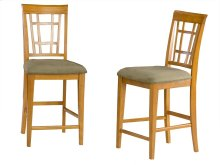 Montego Bay Pub Chairs Set of 2 with Cappuccino Cushion in Caramel Latte