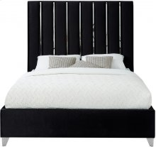 "Enzo Velvet Bed - 81""Dx 59""W x 63.5""H"