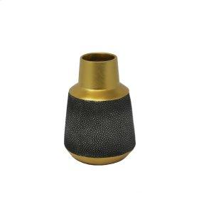 """Gray/gold Stingray Vase 7"""""""