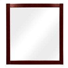 Lola Rectangular Bathroom Mirror - Dark Walnut